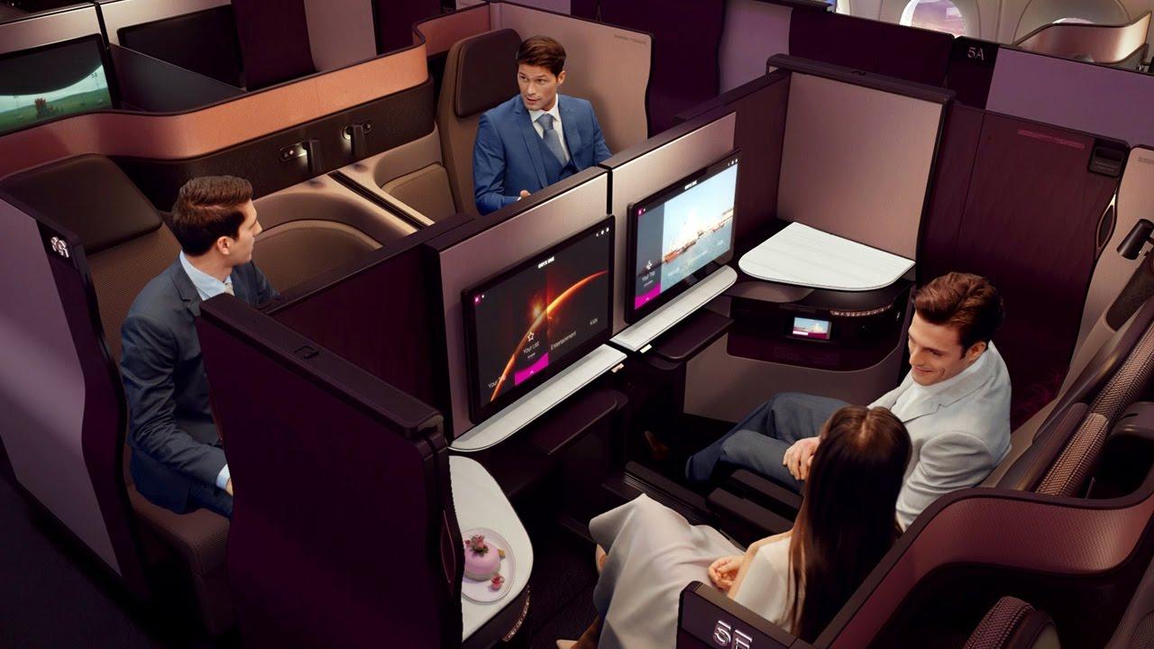 Service Luxe Qsuite de Qatar Airways