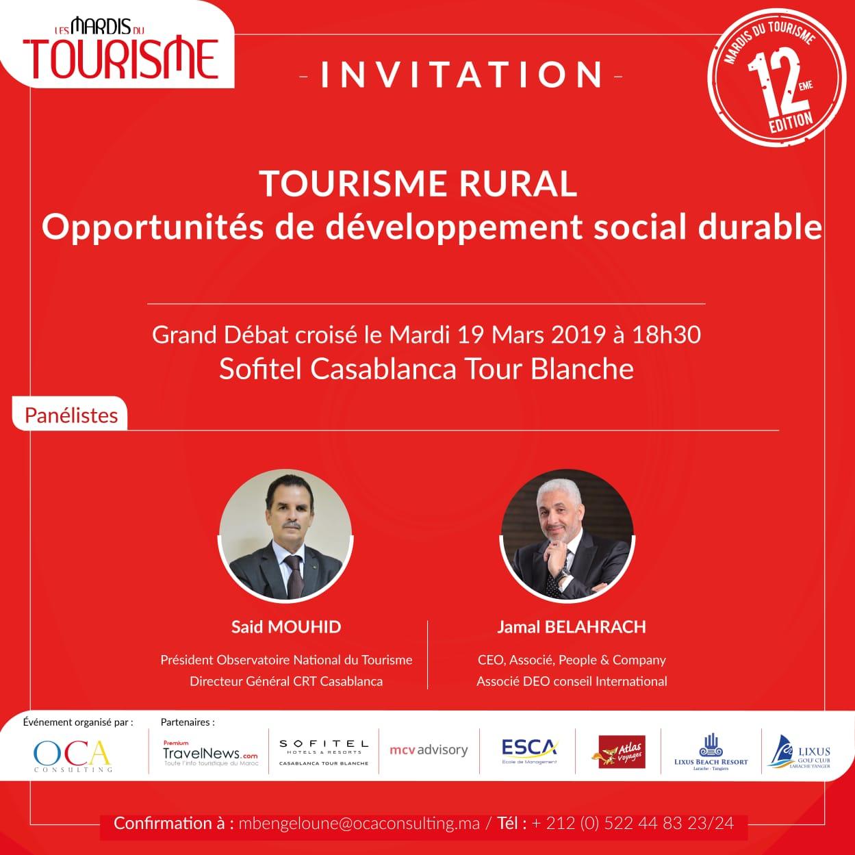 Les Mardis du Tourisme #12: Tourisme rural & développement social durable