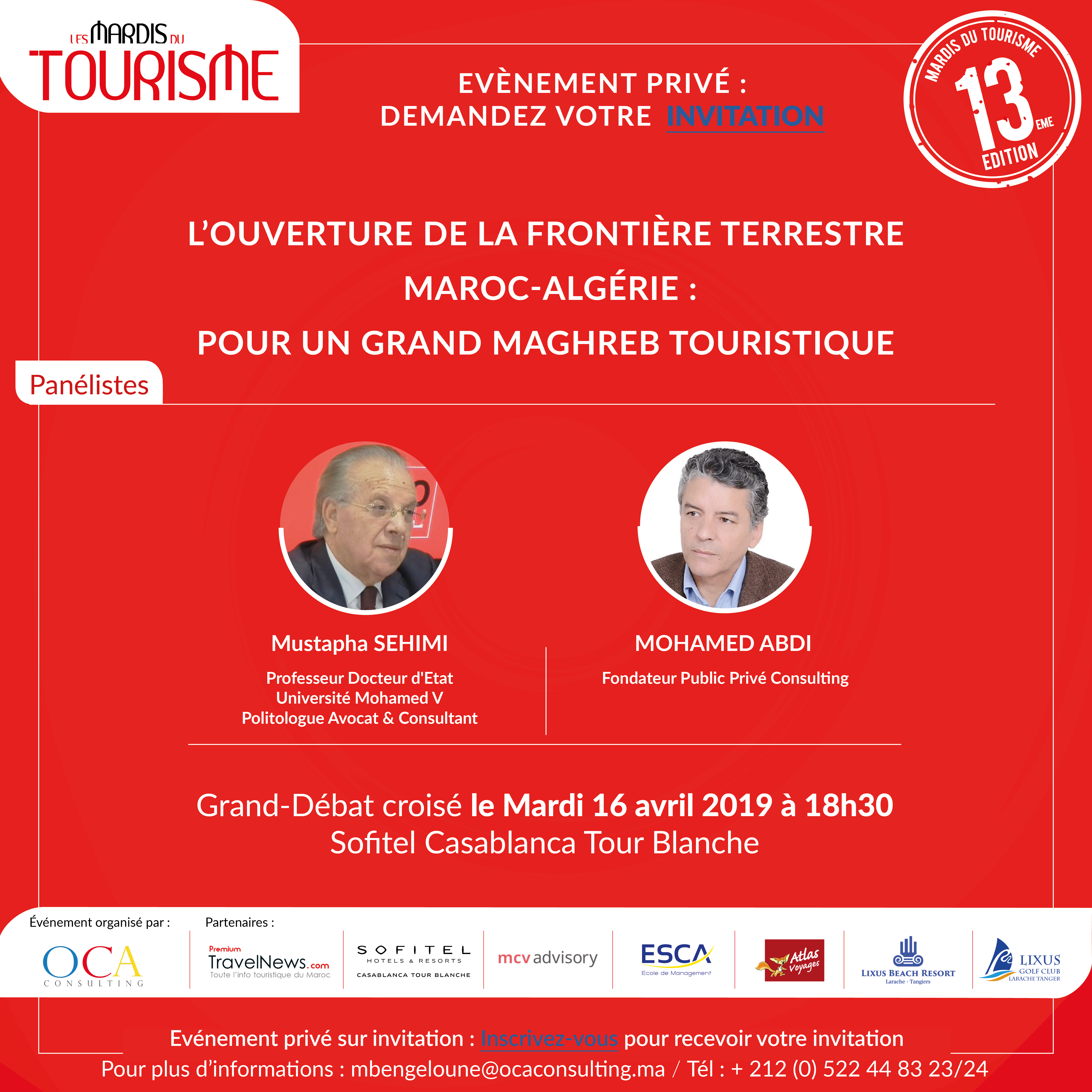 13ème édition des MDT sur le développement d'un grand Maghreb Touristique