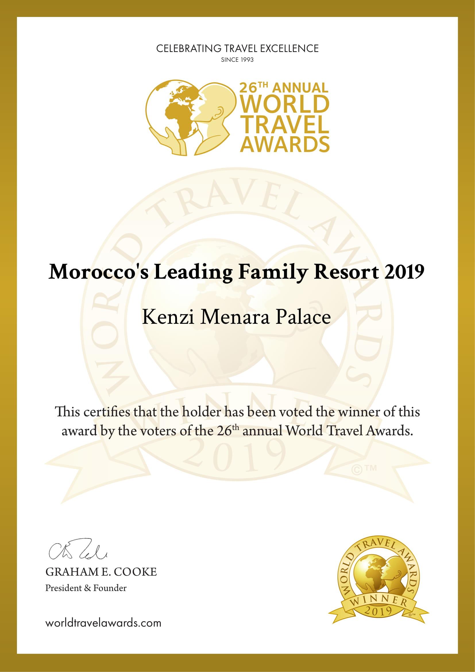 LeKenzi Menara Palace distingué segment tourisme de famille