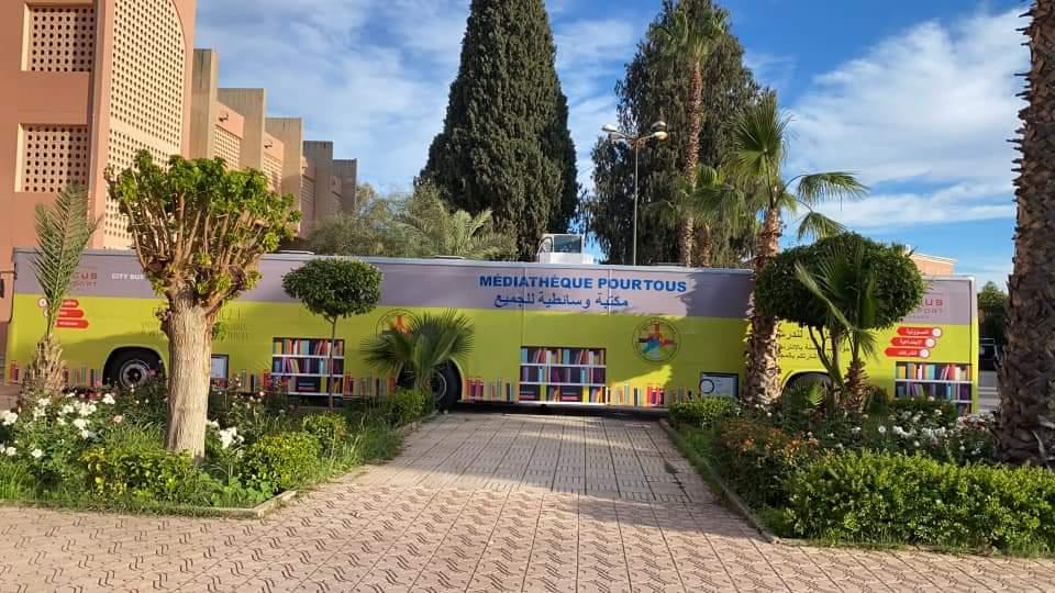 Marrakech : Bus « Médiathèque pour tous »