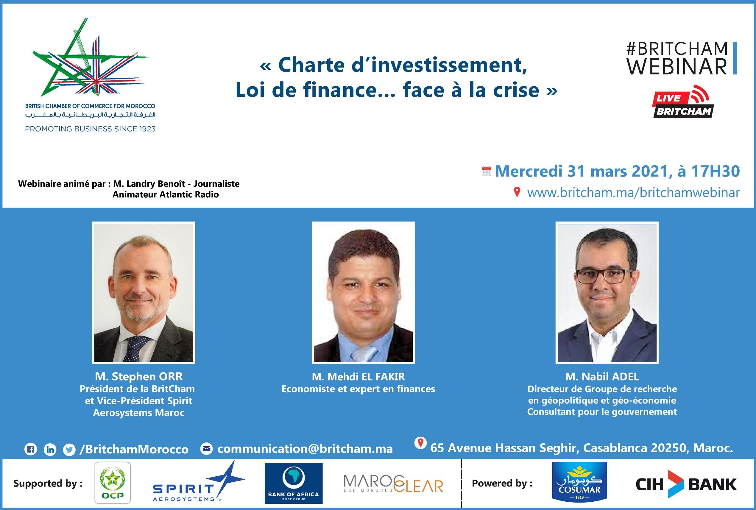 La Charte de l'investissement, entre Loi de Finances et relance